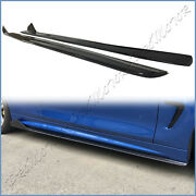 Carbon Fiber Side Skirts Extend Lip For Bmw 14 On F82 F83 M4 Coupe/converti Use