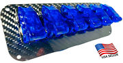 6 Hole Real Carbon Fiber Panel W/ 6 Led Toggle Switches And Covers - Blue