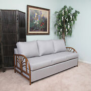 Made In Usa Rattan Queen Sofa Sleeper Bed