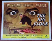 Big Clock And03948 1/2 Sh Poster Ray Milland And Charles Laughton Film Noir Best