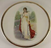 Harker Pottery East Liverpool Oh Ci 1900 Rare Full Queen Portrait Plate 10