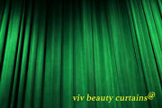 Theater/stage Green Vintage Classic Velvet Curtain Drape 12ft H Sound Proof