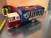 Truck Tin Toy Carry Animals Very Old Made In China