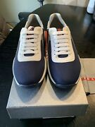 New Authentic Prada Americas Cup Men Shoes Sneakers Navy Blue 6 7 680