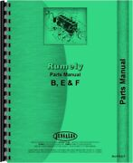 Rumely F B E Oil Pull Tractor Parts Manual Catalog