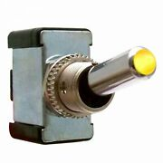 All Metal Toggle Switch With Led - Yellow 20a/12v