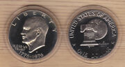 1976 S Ty 2 Proof Deep Cameo Eisenhower Dollar Cn-clad In Airtite Capsule