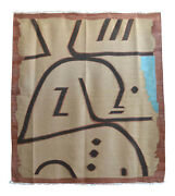 Paul Klee - Wi In Memoriam Inspired Silk Hand Woven Area - Wall Rug 55 X 61