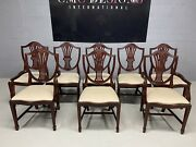 Exquisite Set Of 8 Of Wales Style Dining Chairs Pro French Polished