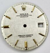 Rolex 28mm Silver Sticks Index Dial For 36mm Datejust 1601 1603 Non-quick