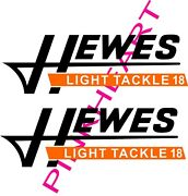 2- Hewes Decals Pair Sticker Decal Boat Decals Flats Light Tackle 18 Stickers