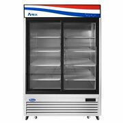 Atosa Usa Mcf8709gr 54 Two Section Merchandiser Refrigerator With Glass Door...