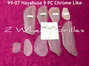 2001 Hayabusa Gsxr 1300 Chrome Like Fairing And Tail Screens Grills Vents Grates
