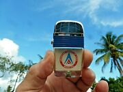 Vintage Scripto American Airmotive 1960and039s Vu-lighter Never Used With Papers Tin