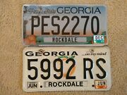 Georgia Peach State License Plates One From December 2017 And One From June 2012