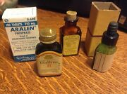 Lot Of 4 Medicine Bottles Very Collectible