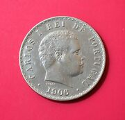 Portugal1906/3amended Date-1906 Over 1903500 Randeacuteissilver Coin-scarce [7056]