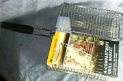 New-steven Raichlen-4 Compartment Grill Basket-barbeque-camping-cooking-grilling