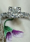 Vintage European Cut Round Diamond .75ct. Set In A Newly Made Vintage Style Ring