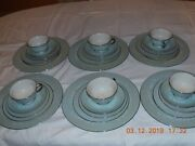 Nancy Prentiss Fine China Usa 1962 Foxhall Bread And Butter Plates Saucers