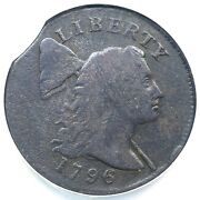 1796 S-88 R-4 R-4 Ncs Vg Details Curved Clip Liberty Cap Large Cent Coin 1c