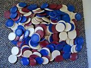 Vintage Mixed Lot Of Over 400 Poker Chips,bicycle And Hoyle / Other  Great Lot