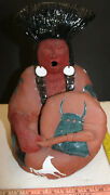 Glen-lafontaine Native American Indian Pottery Figure Northern Drummer