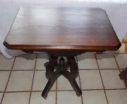 Walnut Victorian Lamp Table / Parlor Table T770