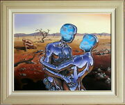 Shane Gehlert 1966- Stunning Large Original Painting Cybernetic Outback Lovers