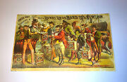 Antique Uncle Sam Supplying The World - Berry Bros Oil Advertising Trade Card