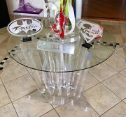 Brand New Heavy Lucite Icicle Table 4 Thick Lucite Gorgeous