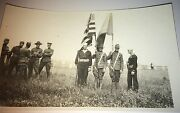 Rare Antique World War I American Soldiers And Sailors Legion Cemetery Flags Photo