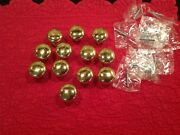 Solid Brass Round Cabinet Knobs Lot Of 12 1 - 1/4 Drawer Pulls