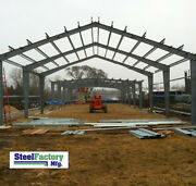 Made In Usa Steel Factory Prefab 40x60x16 I-beam Frame Garage Building Materials