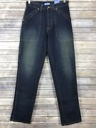 Vtg Kenneth Cole Reaction Dirty Wash Blue Jeans Button Fly Size 31 X 32 Nwt 90s
