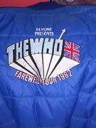 Vintage The Who 1982 Mgr Vest Band Issue Only  Rare Rare Rare