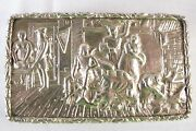 Antique Geo.iii Sterling Silver Cast Top Snuff Box By Ledsam Vale And Wheeler