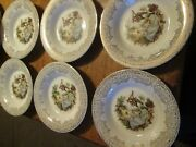 Triumph American Limoges China Dand039or 22k Gold 6- 8-1/4 Soup Bowls