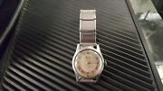 Vintagerare Henry And Coe Swiss Ss Band Watex Wristwatch Gray Dial Watch Works