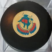 1974-75 Toronto Toros Vintage Wha Old Viceroy Game Puck Made In Canada