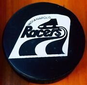 1974-75 Wha Indianapolis Racers Hockey Official Game Puck Old Slug Canada