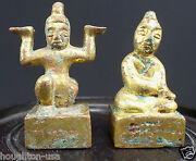 A Pair Of 2000 Year-old Chinese Gilt-bronze Seals.c. Eastern Han Dyn. 25-220 Ad
