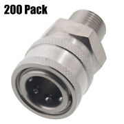 200 3/8 Mpt Male Stainless Steel Socket Quick Connect Coupler Pressure Washer