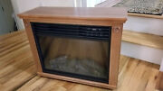 Large Deluxe Electric Infrared Fireplace Heater W/ Remote Mantle Wood Oak Finish