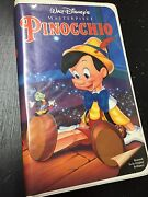 1993 Walt Disneyand039s Pinocchio Vhs The Masterpiece Series 239 Used Ex Untested Fs