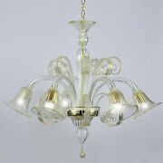 Tintoretto Murano Chandelier 5 Lights Crystal Gold