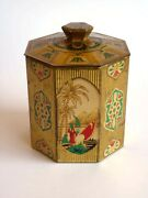 Tea Tin Box Made In England Egyptian Graphic Sphinx Early 1900s Art Deco