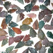 250 Arrowheads Bow Points Hunting Flint Stone Collection Free Usa Shipping