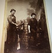 Rare Antique Occupational Western American Saddle Makers, Tools Cabinet Photo