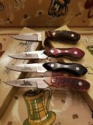 Vintage Frost Cutlery White Tail Knives - Plus Handmade Clone 4 Knives Total